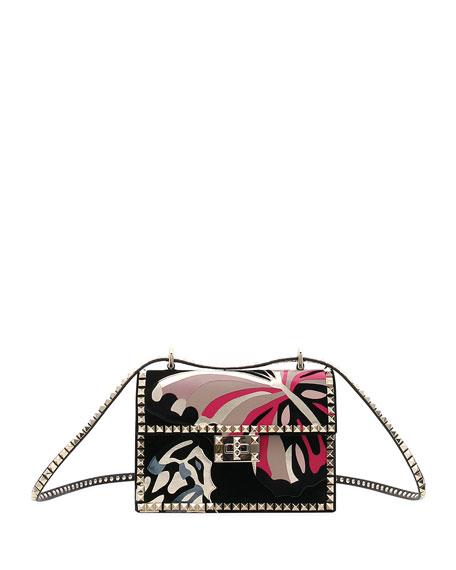 b4fbbe5b107 Valentino Garavani Rockstud No Limit Butterfly Velvet Shoulder Bag