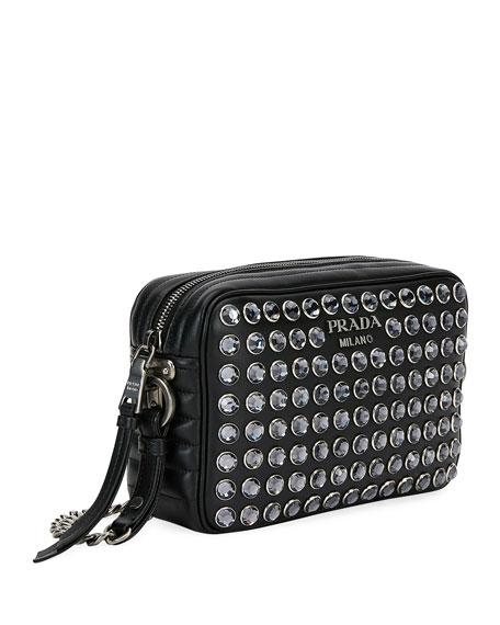 Soft Calf Jeweled Camera Crossbody Bag