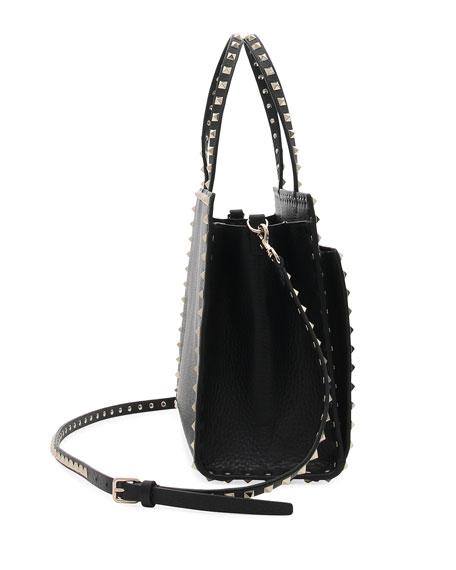 e6c28dc00ebee Valentino Garavani Rockstud Medium Vitello Leather Tote Bag