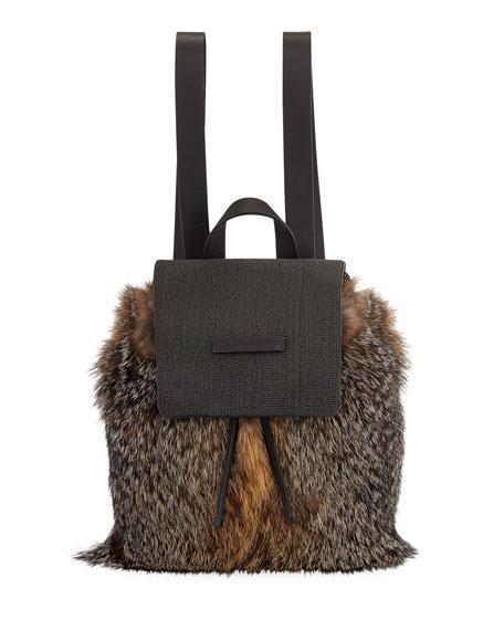 Fox Fur and Monili Backpack