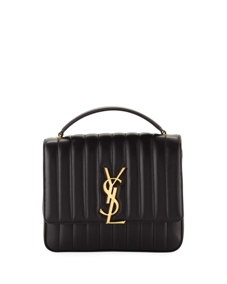 de9f09fec1 Vicky Monogram YSL Large Quilted Leather Chain Crossbody Bag