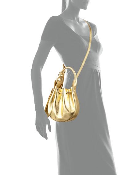Ina Mini Crossbody Metallic Top Handle Bag