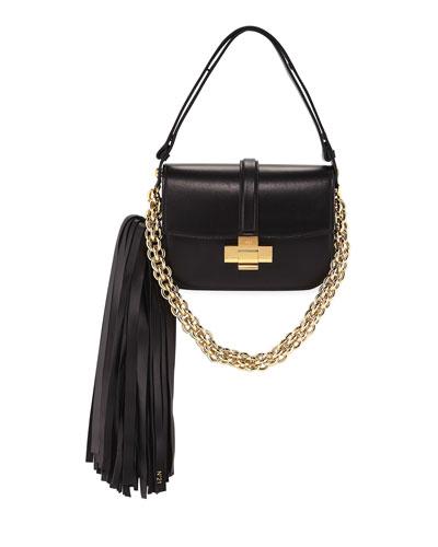 Pompom Chain Shoulder Bag
