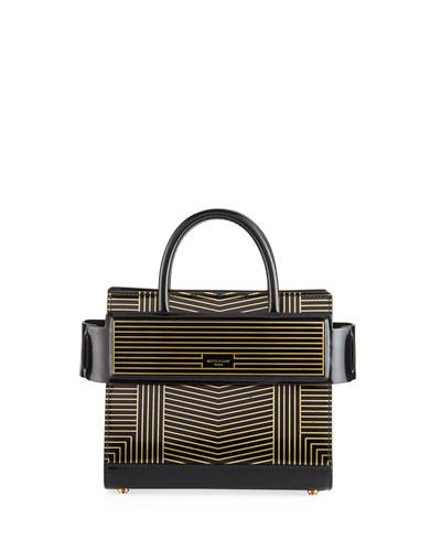Horizon Striped Leather Mini Bag