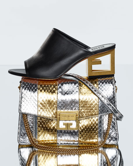 GV3 Metallic Snakeskin Shoulder Bag