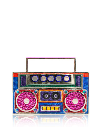 Boom Box Brooklyn Crystal Clutch Bag