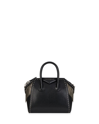 Antigona Chain Fringe Mini Satchel Bag