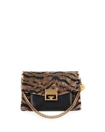 GV3 Small Leopard Velvet Shoulder Bag