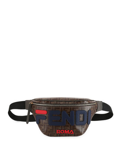 Fendi Runway Collection Calf Leather and Canvas Belt Bag