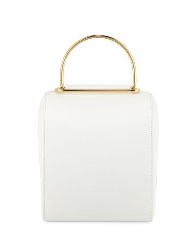 Besa Pebbled Leather Top-Handle Bag
