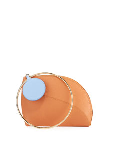 Dia Small Leather Clutch Bag by Roksanda