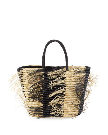 026974be436 Two-Tone Straw Tote Bag