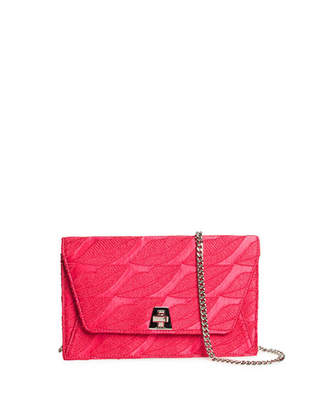 Anouk Envelope Lips Embroidery Clutch Bag