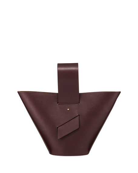 AMPHORA LEATHER TOP-HANDLE TOTE BAG
