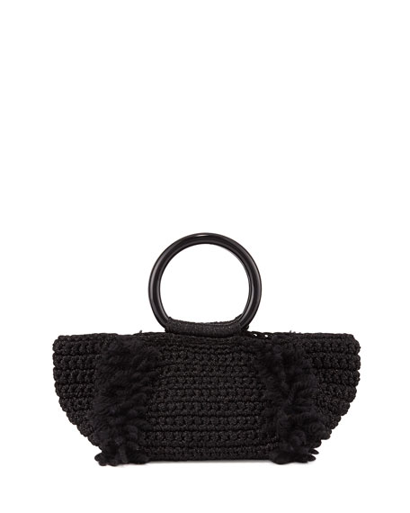 CORALLINA WOOL RING-HANDLE TOTE BAG