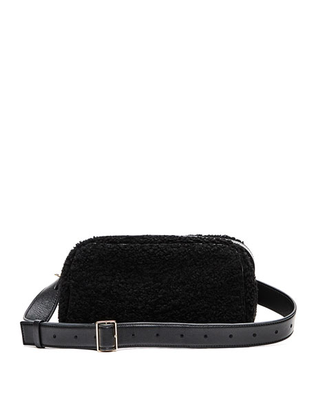 Leather and Shearling Fanny Pack