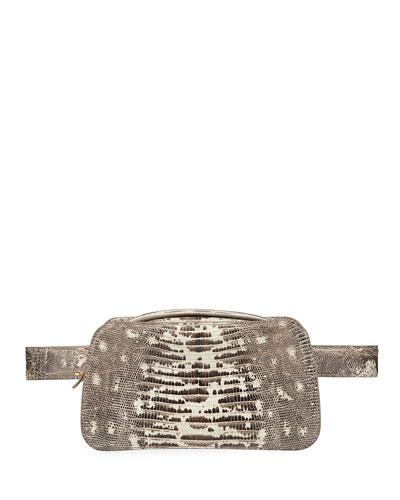 Tegu Lizard Convertible Fanny Pack/Belt Bag