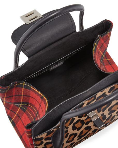61a6bf11943e23 Michael Kors Bancroft Leopard Tartan Satchel Bag
