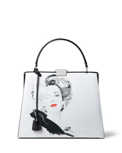 Illustrated Simone Satchel Bag