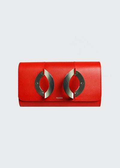 La Croisiere Leather Clutch Bag