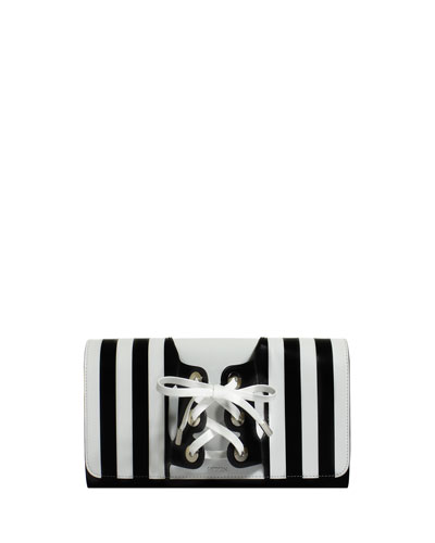 Le Corset Striped Clutch Bag