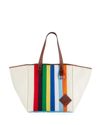 Patchwork Belt Tote Bag
