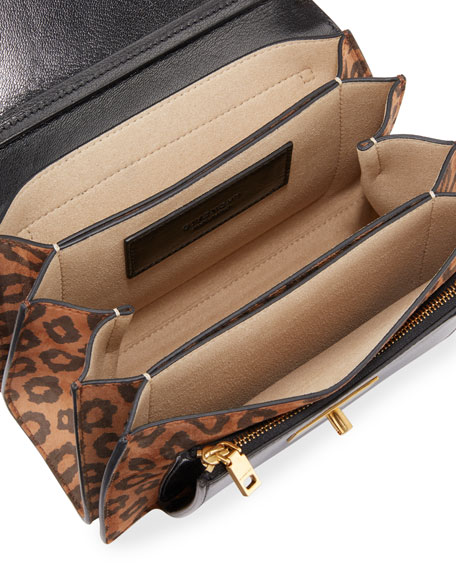 GV3 Small Leopard Shoulder Bag