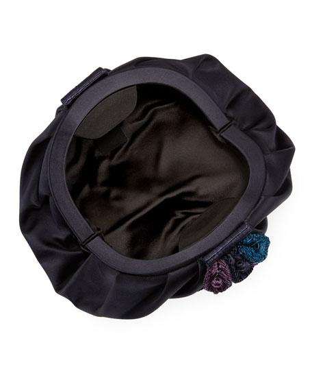 Zinnia Satin Clutch Bag