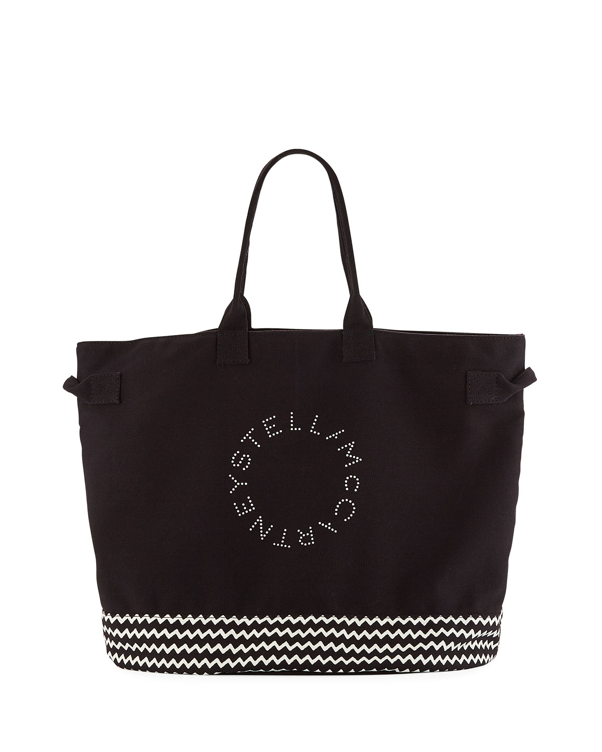 search for newest shop for original top-rated fashion Stella McCartney Striped Logo Beach Tote Bag