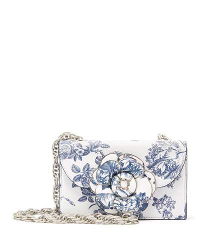 Tro Flower-Print Crossbody Bag