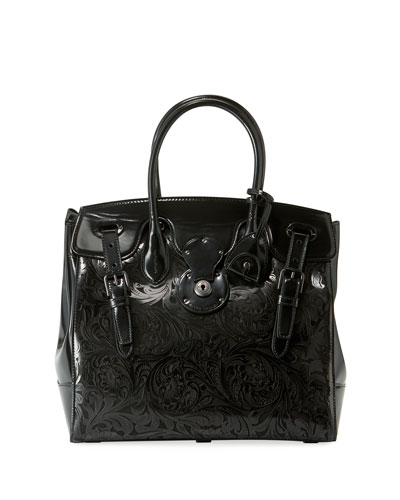 Ricky 33 Laser-Tooled Soft Top Handle Bag
