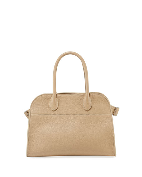 Margaux 10 Grained Calf Leather Top-Handle Bag