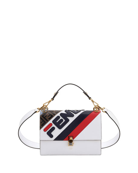 cd222fe42d8b Fendi Kan I Fendi Mania Striped Shoulder Bag