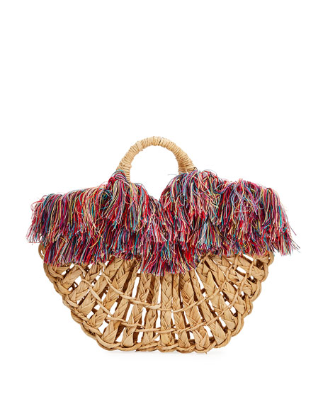 NANNACAY - COTIO Maria Leque Fringe Large Tote Bag in Multi Pattern