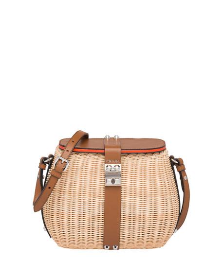 24be0905f21b Prada Wicker Woven Basket Crossbody Bag