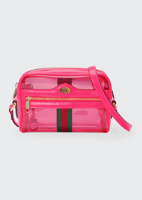 124d05c91d Gucci Ophidia Mini See-Through Vinyl Crossbody Bag