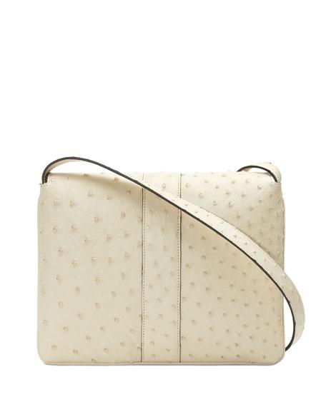 Arli Medium Ostrich Shoulder Bag