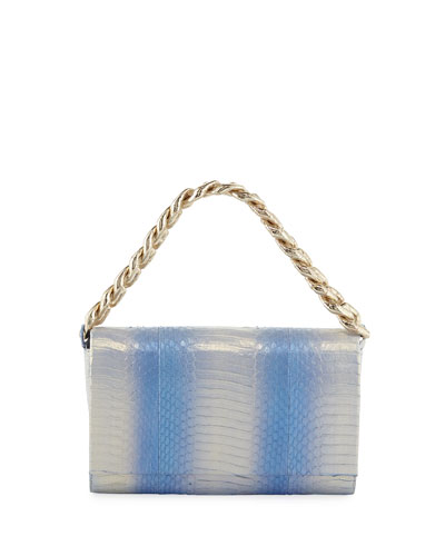 Carrie Small Ombre Snakeskin Clutch Bag