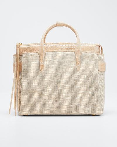 Cristie Small Linen Tote Bag