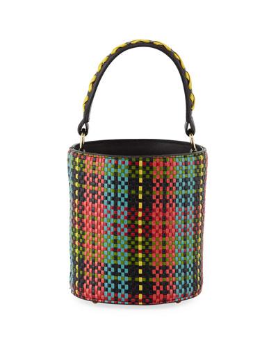 Baby Olivia Woven Tarten Bucket Bag