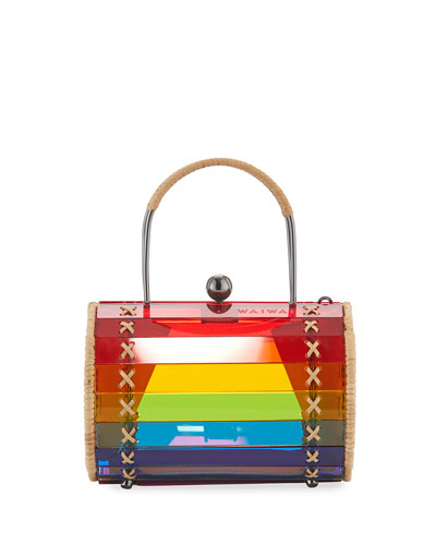 Alix Acrylic Rainbow Top Handle Bag