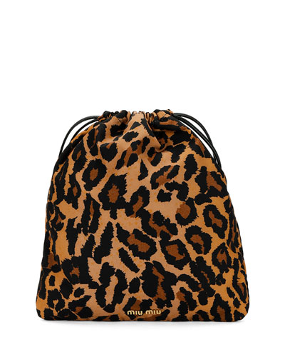 Faille Printed Bucket Bag