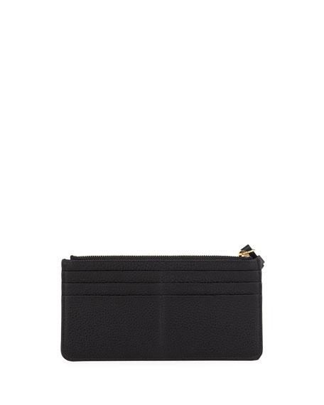 Alphabet Leather Zip Wallet