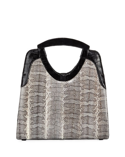 Small Crocodile Top-Handle Bag