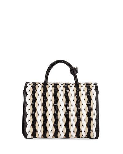 Toto Medium Woven Satchel Bag