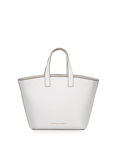 b0a5e2f26277 Glossy Calf Small Shopper Tote Bag Quick Look. Brunello Cucinelli