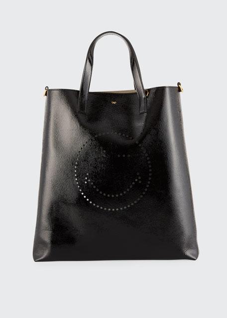 Anya Hindmarch Perforated Wink Shiny Tote Bag
