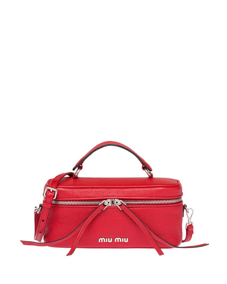 Miu Miu Madras Leather Mini Beauty Top Handle Bag 8d0d12d82d78f
