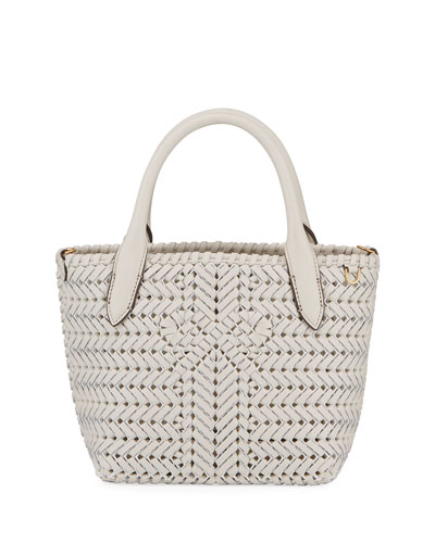 Neeson Woven Leather Mini Tote Bag