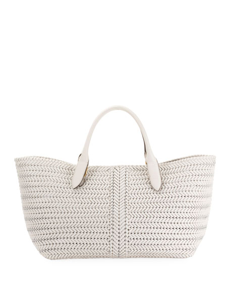 The Neeson Woven Leather Tote Bag